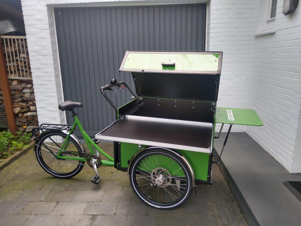 Unser grünes Lastenrad ist da!
