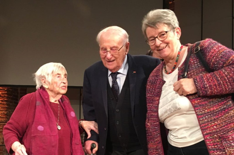 Esther Bejarano, Albrecht Weinberg. Gerda Dänekas